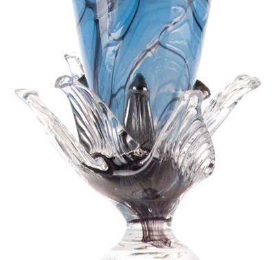 Kunstglass- Marmorblomst