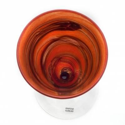 Kunstglass -  keisere rød
